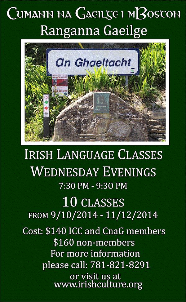 CNAG Ranganna Gaeilge FALL14
